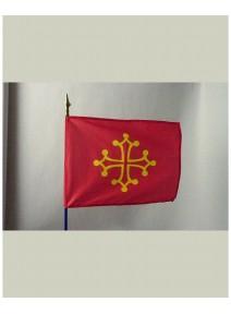 drapeau languedoc 80x120cm 100% polyester sur hamp