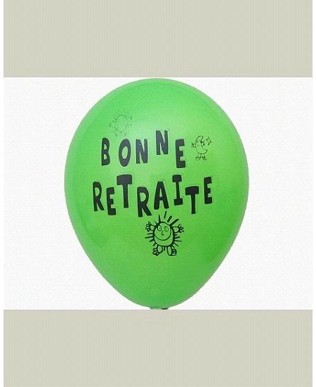 ballonsx10/28cm retraite multicolore 1fa