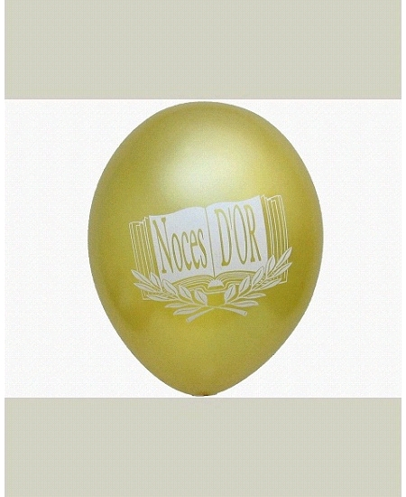 ballonsx10/D28cm noces d`or 1face or