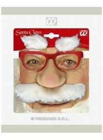 lunette rouge avec nez père noël