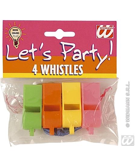 siffletsx4 plastique couleurs assortis