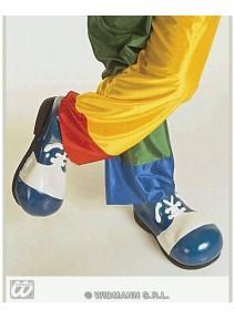 chausssure clown bleue/blanche plastique 31cm