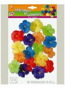 fleursx18/d10cm hibiscus couleurs assorties