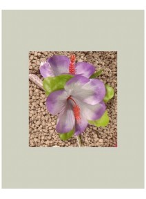 hibiscus parme/parme pâle pince cheveux