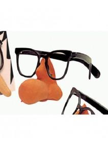 lunette noire sans verre plastique + nez aquilin