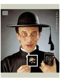 chapeau curé noir adulte en feutre