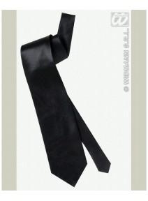 cravate satin noir (noeud non fait )