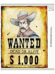 "affiche 38x50cm western ""wanted"""