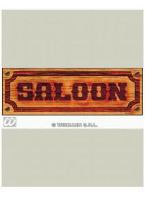 "affiche ""saloon"" 78x26m"