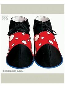 chaussure de clown 33cm souple en tissu