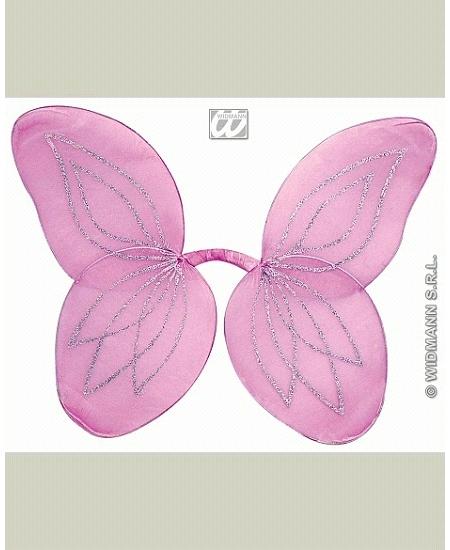 ailes de fée rose paillette enfant