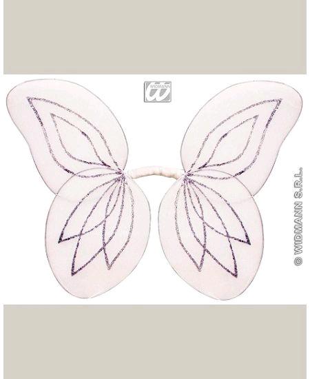 ailes de fée blanche pailletée enfant