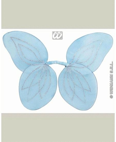 ailes de fée bleu ciel pailletée enfant