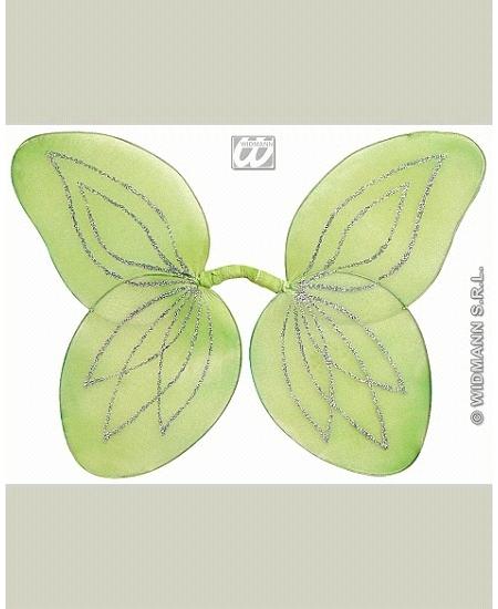 ailes de fée verte pailletée enfant