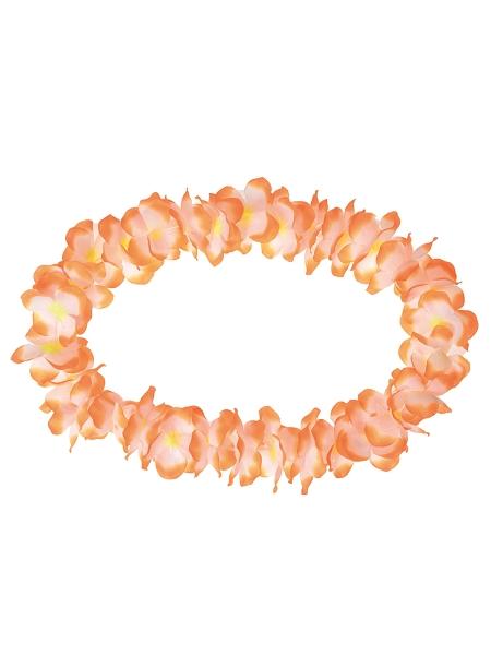 collier orange/blanc hawaïen