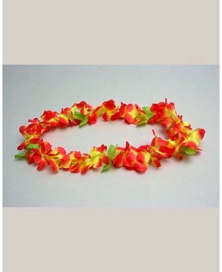 collier orange/jaune hawaïen