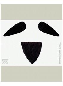 moustache barbiche noire diplomate