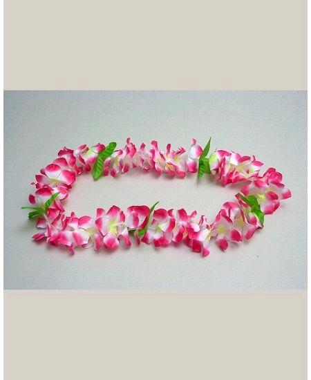 collier rose/blanc hawaïen