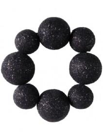 rond de serviettesx4 noir boules