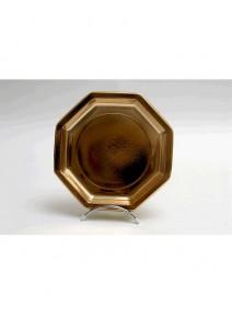 assiettes octogonalesx25/D24cm or