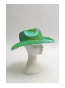 chapeau cowboy vert pomme irisé