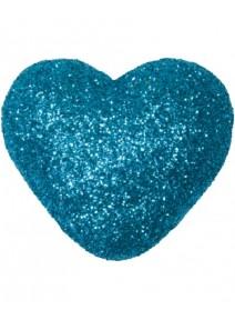 coeurs pailletés x12 turquoise