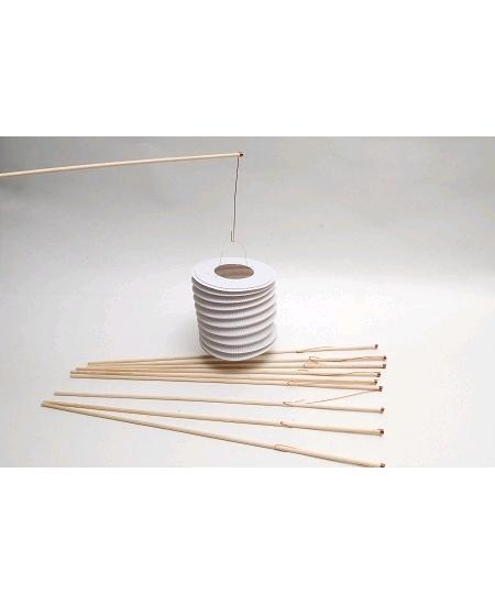 bâtons boisx10/60cm pour lampions