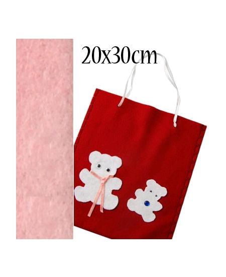 feutrine rose pâle 20cmx30cm