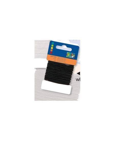 fil élastique 5Mx1mm noir