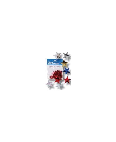 paillettes étoilesx50/14mm multicolore