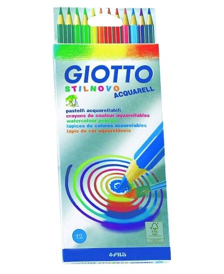 12 crayons aquarellables assorties