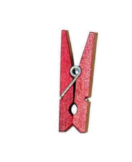 mini pincesx12 rouge en bois H3.5cm