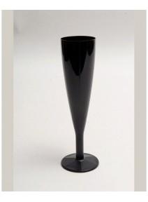 flûtes à champagnex6/15cl noire