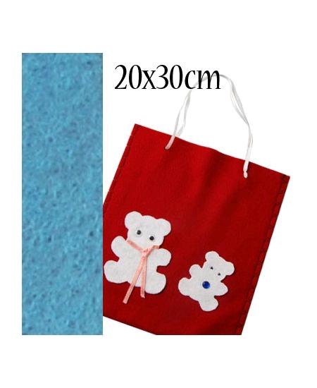 feutrine bleu ciel 20cmx30cm