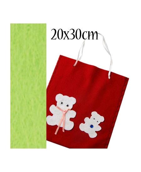 feutrine vert pomme 20cmx30cm