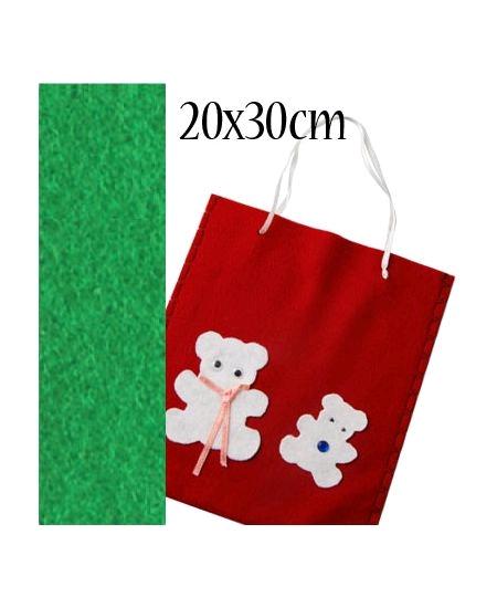 feutrine vert pré 20cmx30cm
