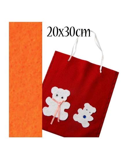 feutrine orange 20cmx30cm