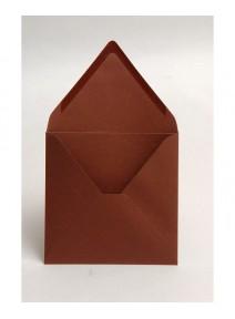 enveloppex20/14x14cm chocolat pollen