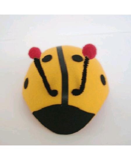 coiffe abeille en feutrine