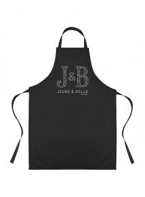 """Tablier noir femme """"J&B Jeune & Belle"""""""