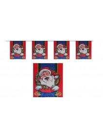 guirlande 5M Père Noël en papier