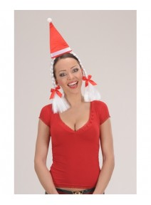 coiffe maman noel avec tresses blanches