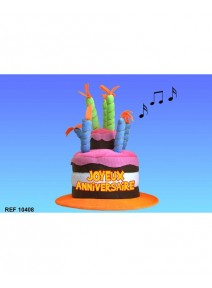 chapeau joyeux anniversaire musical