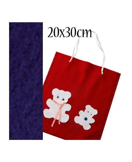 feutrine bleu france 20cmx30cm