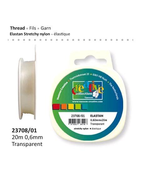 fil élastique 20m/0.7mm transparent