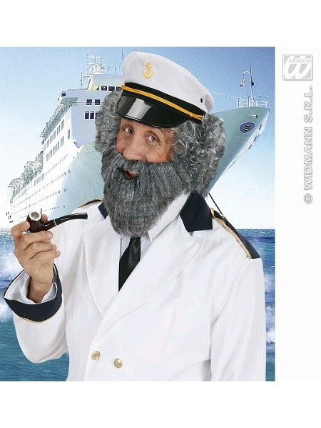 barbe avec moustache grise