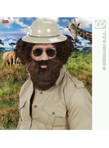 barbe avec moustache châtain foncé