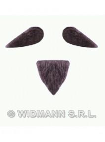moustache + barbiche grise adhésive