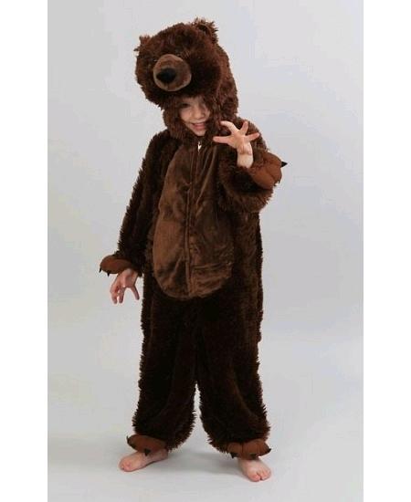 deguisement 5/7ANS ours brun peluche