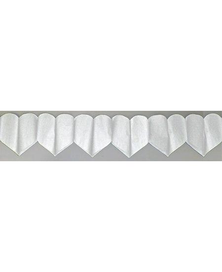 guirlande coeur 6M blanc